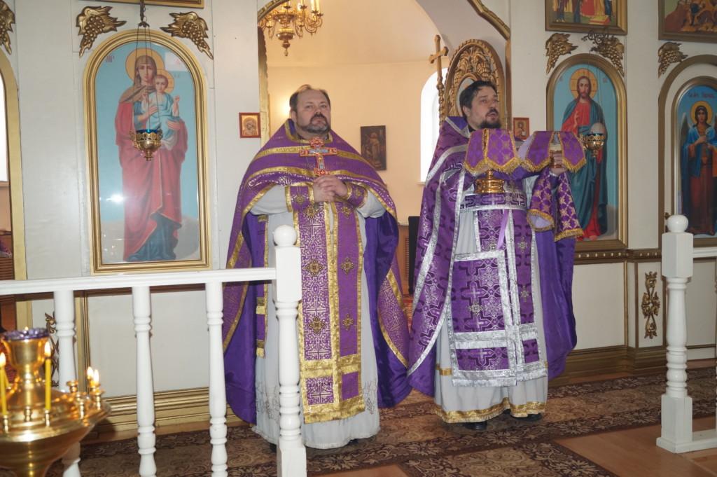 Божественная Литургия в Покровской церкви г. Городище Пензенской области
