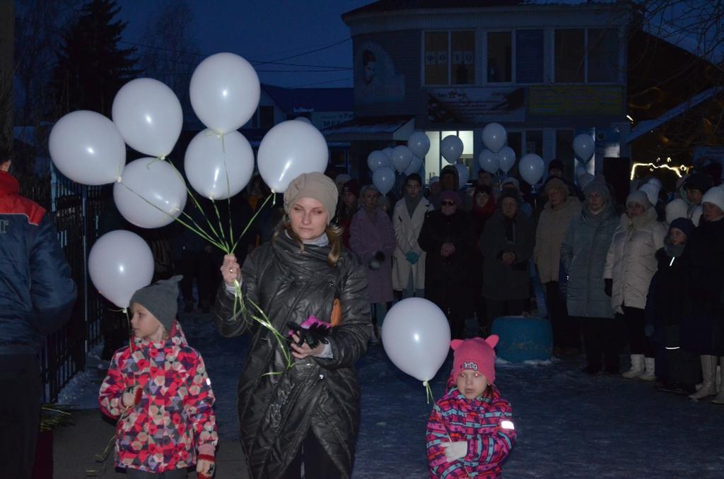 В Городище почтили память погибших при пожаре в Кемерово